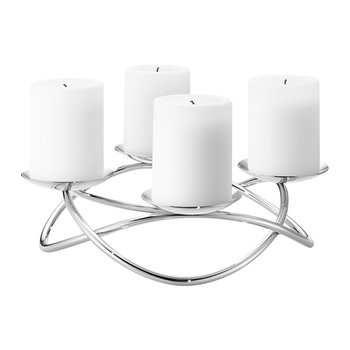 Maria Berntsen Season Grand Candle Holder - Stainless Steel