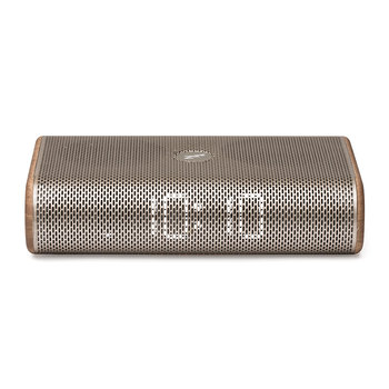 Radio-réveil LED Miami Time - Or Clair / Bois