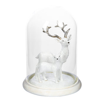 Reindeer Glass Cloche Ornament