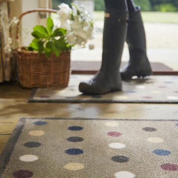 Spot Washable Recycled Door Mat - Brown