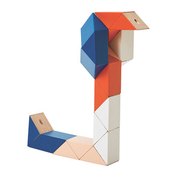 Snake Block Toy - Blue/Pink