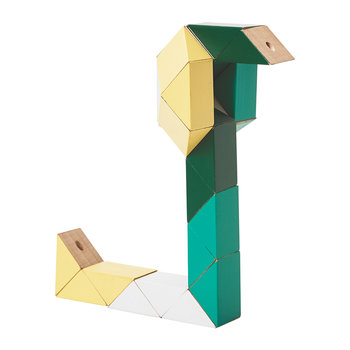 Snake Block Toy - Yellow/Green