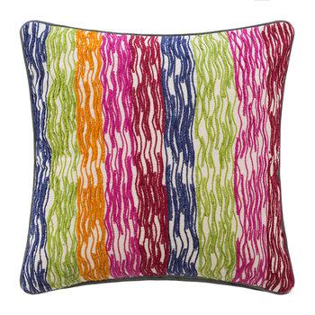 Rainbow Stripe Cushion - 45x45cm