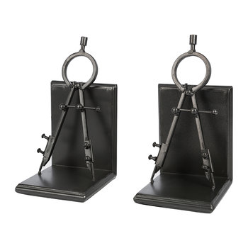 Compass Bookends - Set of 2