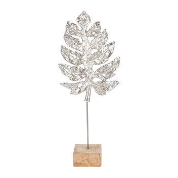 Fern Leaf Decorative Ornament - Silver