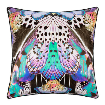 Flying Wings Silk Pillow - 60x60cm - Fuchsia