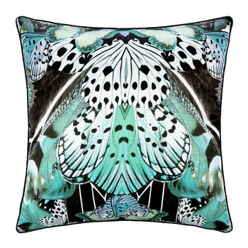 Flying Wings Silk Cushion - 60x60cm - Light Blue