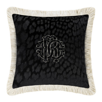 Monogram Cushion - Black