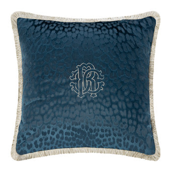 Monogram Pillow - Blue