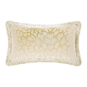 Monogram Pillow - Dove Gray
