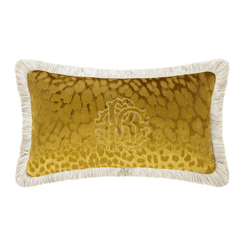 Monogram Pillow - Gold