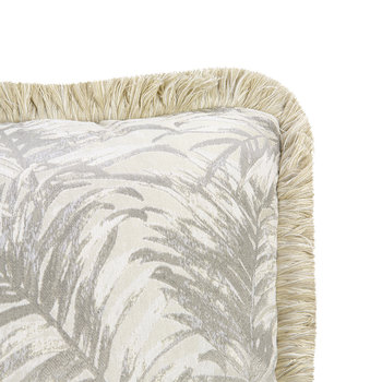 Tropicalia Jacquard Pillow - Beige