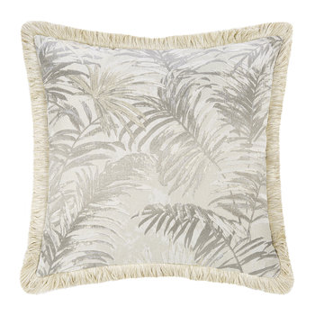 Tropicalia Jacquard Cushion - Beige
