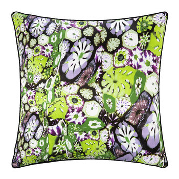 Murrine Silk Pillow - 40x40cm - Green