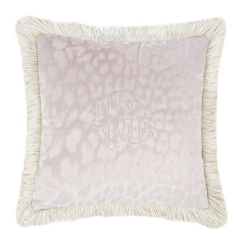 Monogram Cushion - Mauve
