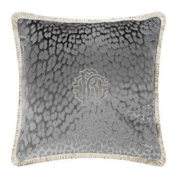 Monogram Cushion - Grey