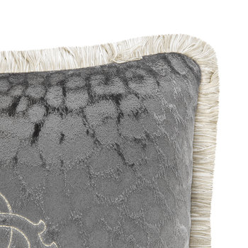 Monogram Reversible Cushion - Grey