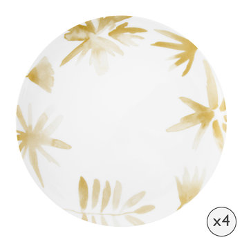 Blossom Porcelain Dinner Plates - Set of 4