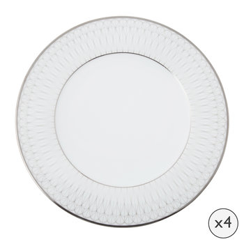Prism Porcelain Dinner Plates - Set of 4 - Platinum