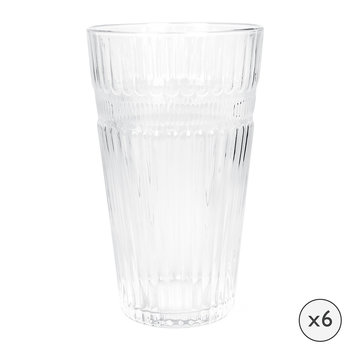 Verre highball baroque - Lot de six - Transparent