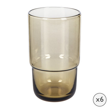 Drop Highball Glasses - Set of 6 - Cognac