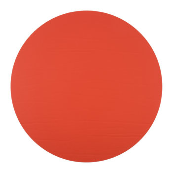 Round Leather Placemat - Tangerine