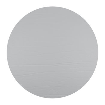 Round Leather Placemat - Silver