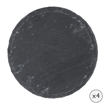 Round Slate Coasters - Set of 4