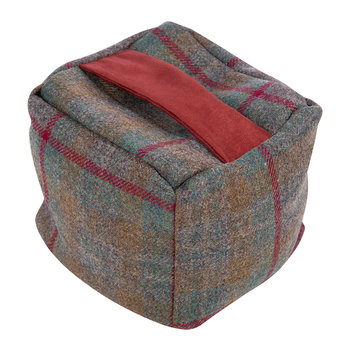 Tweed Cube Door Stop - Country Check