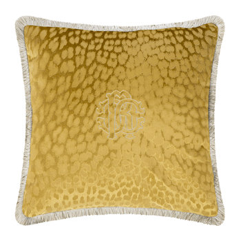 Monogram Cushion - Gold