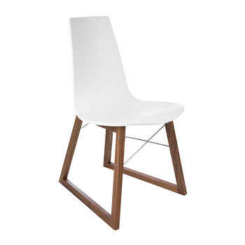 Ray Chair - Walnut & White