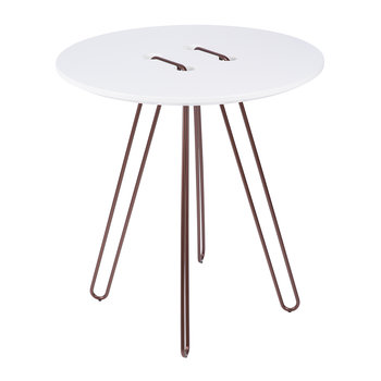 Twine Table - White & Bronze