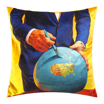 Toiletpaper Pillow Cover - 50x50cm - Globe