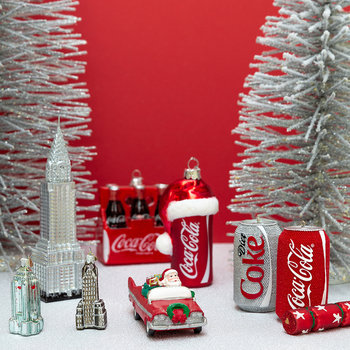 Rhinestone Coca-Cola Can Tree Decoration