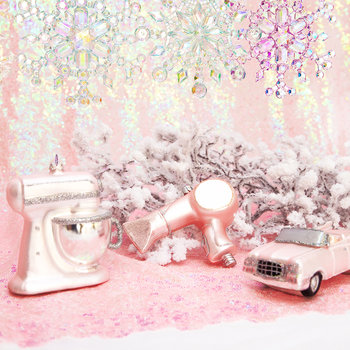 Retro Roadster Tree Decoration - Pink