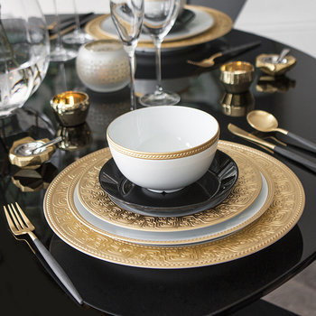Goa Flatware Set - 24 Piece - Matt Black Gold