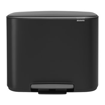 Bo Dual Bucket Pedal Bin - Matt Black