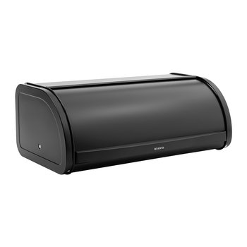 Roll Top Bread Bin - Matt Black