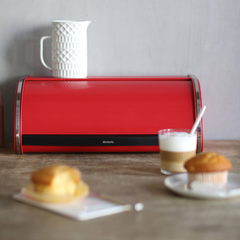 Roll Top Bread Bin - Passion Red