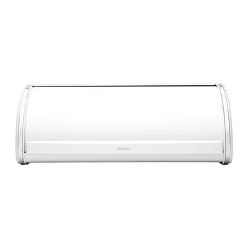 Roll Top Bread Bin - White