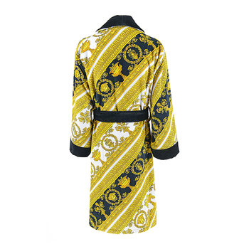 I Love Baroque Bathrobe - White/Gold/Black