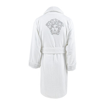 Medusa Crystal Bathrobe - White