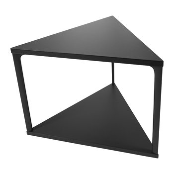Eiffel Triangular Side Table - Ink Black