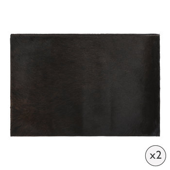 Cowhide Placemats - Set of 2 - Natural