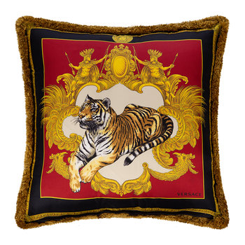 Tigris Reversible Pillow - Black/Gold/White/Red - 45x45cm