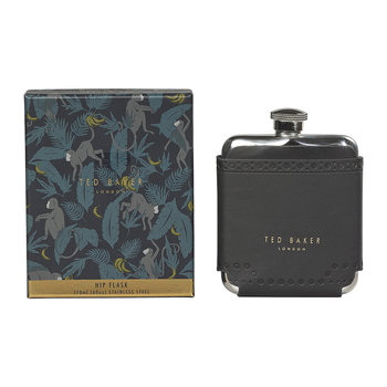 Brogue Monkian Hip Flask - Black