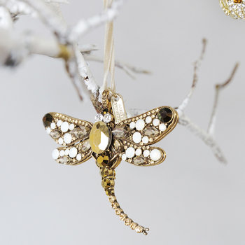 Dragonfly Christmas Tree Decoration - Gold