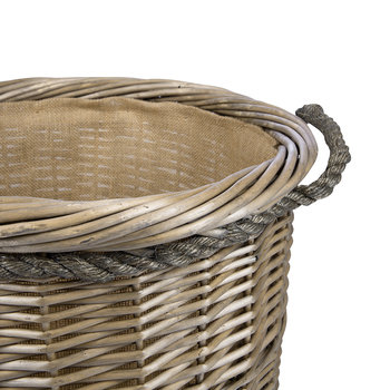 Round Rope Handled Log Basket