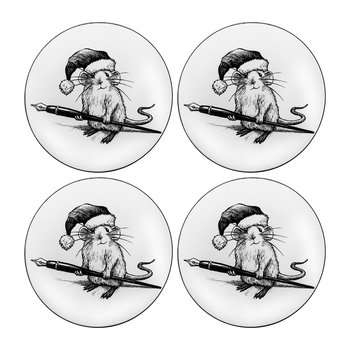 Christmas Mouse Coaster - Set of 4
