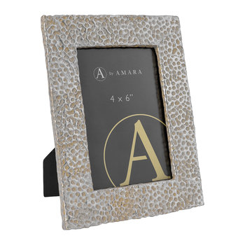 Hammered Photo Frame - Silver